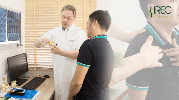 Điều trị thoát vị đĩa đệm an toàn tai phòng khám IREC