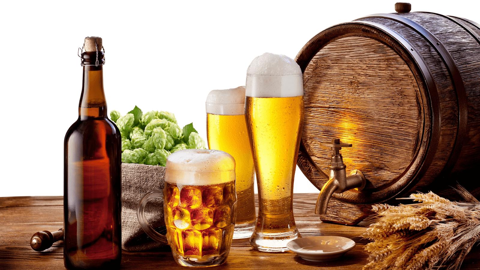 Rượu, bia, cà phê và các loại nước ngọt có ga